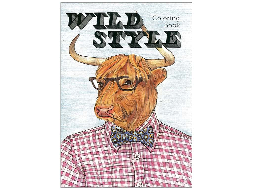 Paper Accents Creative Coloring Wild Style Animals Coloring Book