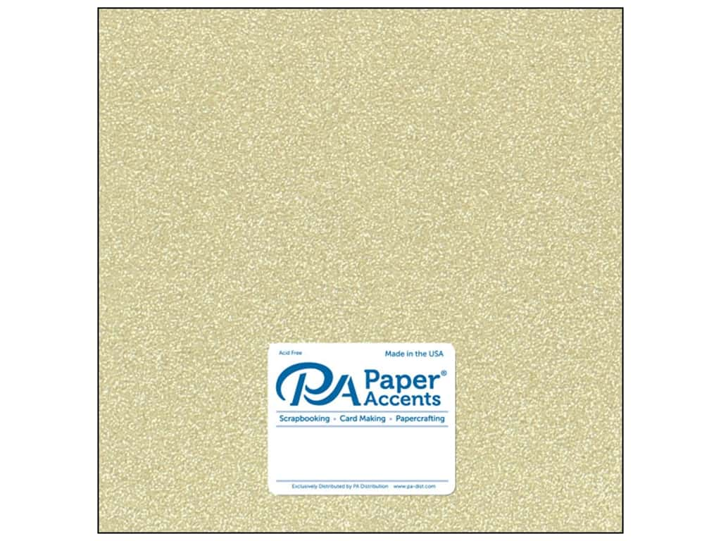 Paper Accents Cardstock 12 x 12 in. Glitter Light Gold