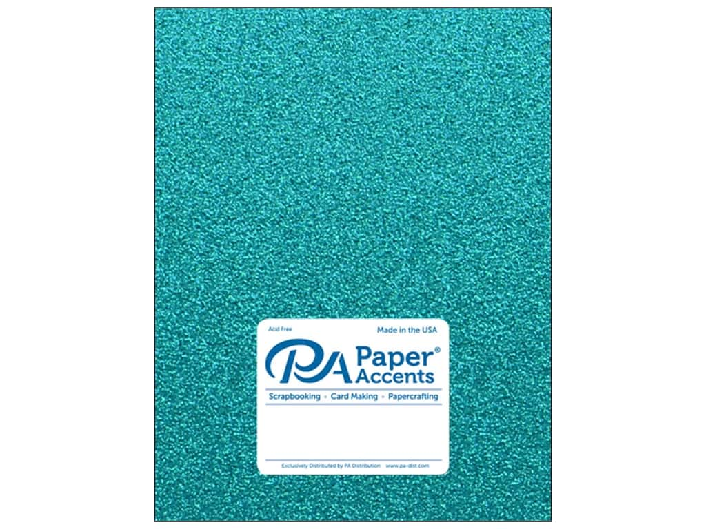 Cardstock 8 1/2 x 11 in. Glitter Prussian Blue