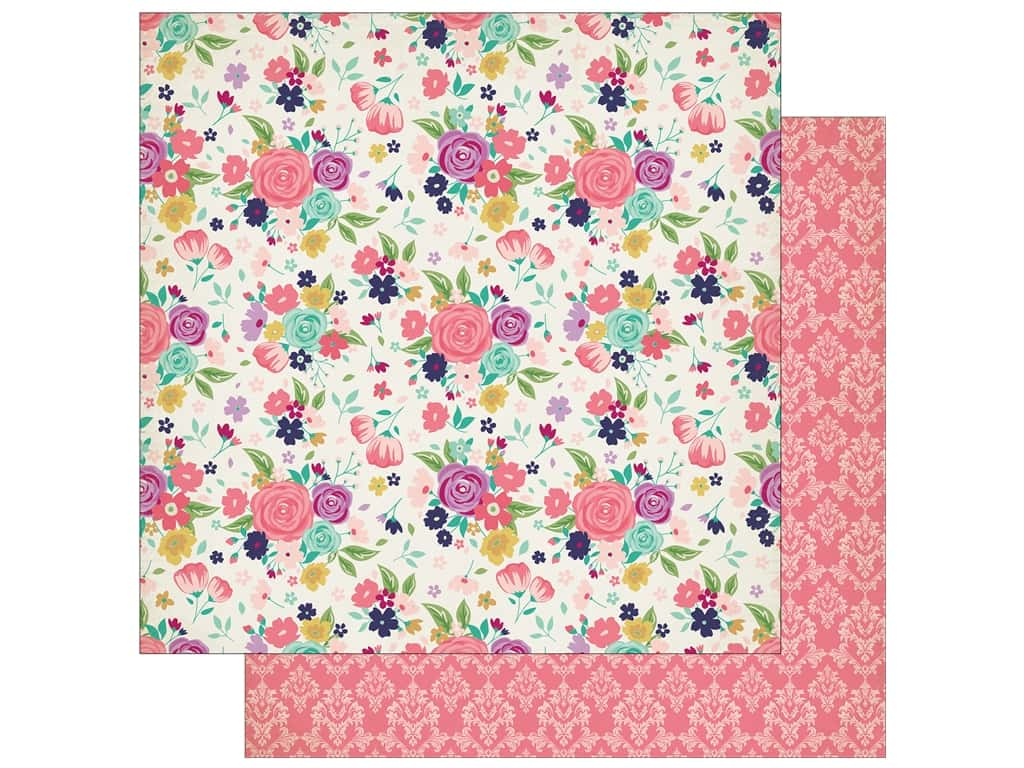 "Echo Park Collection Once Upon A Time Paper 12""x 12"" Royal Garden"