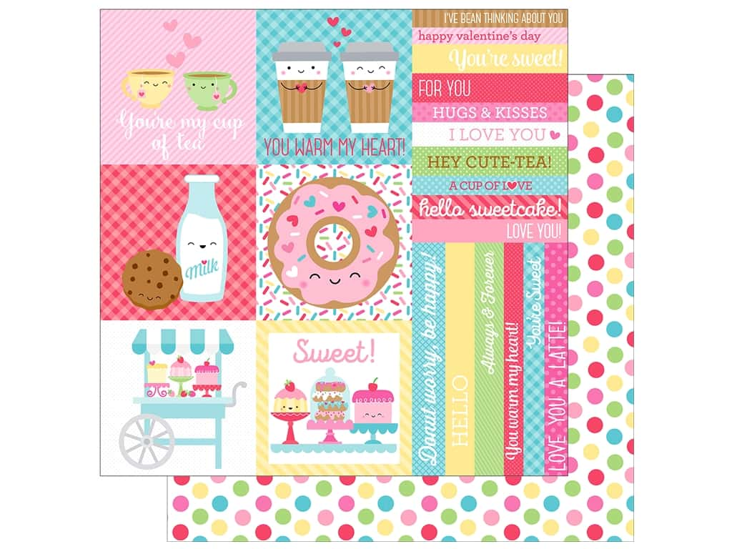 "Doodlebug Collection Cream & Sugar Paper 12""x 12"" Cake Sprinkles"