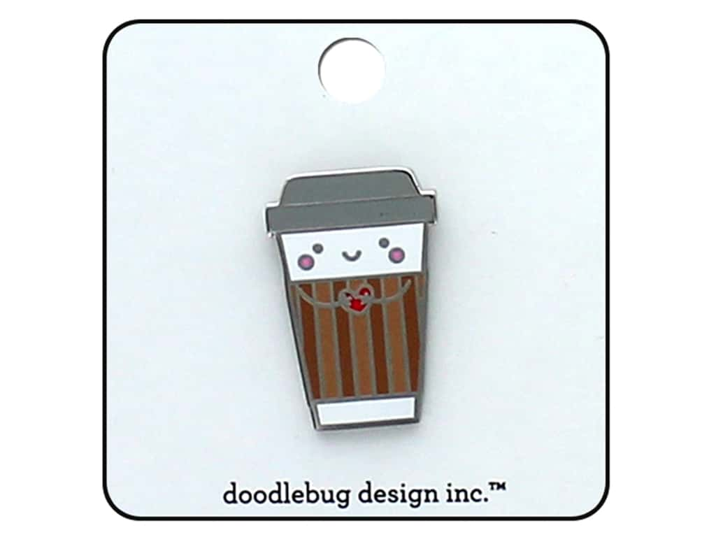 Doodlebug Collection Cream & Sugar Enamel Pin Cup O' Jo