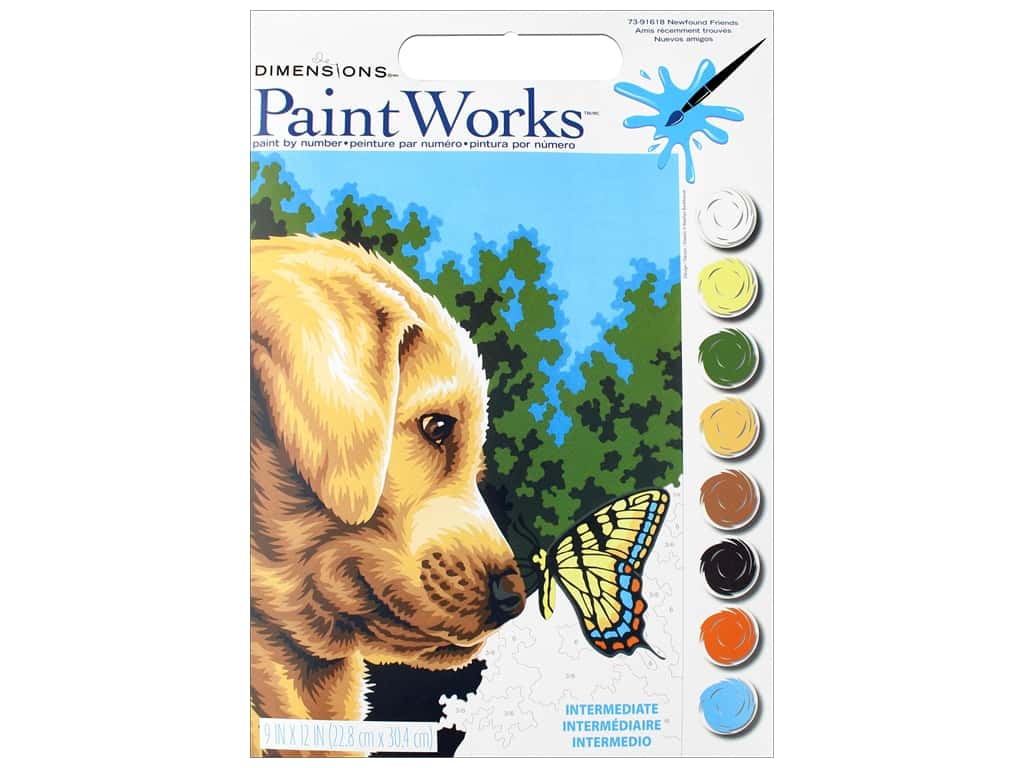 Dimensions PaintWorks Paint By Number 9 in. x 12 in. Newfound Friends