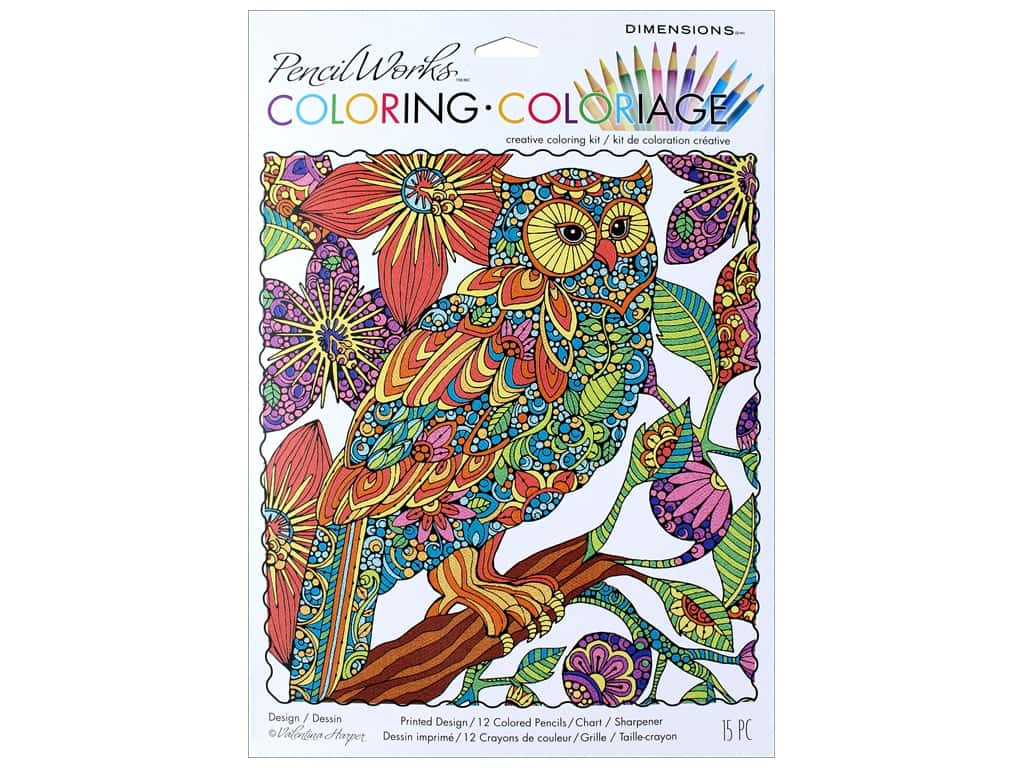 "Dimensions Color By Number 9""x 12"" Flowering Owl"