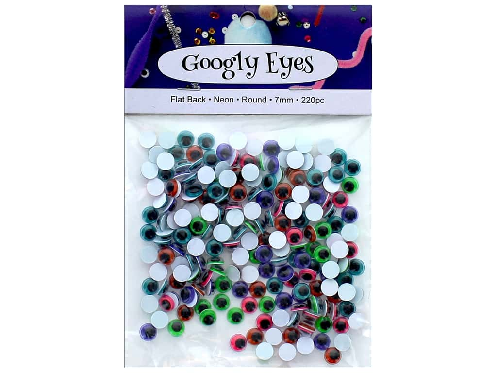 PA Essentials Googly Eyes 1/4 in. Round 220 pc. Neon