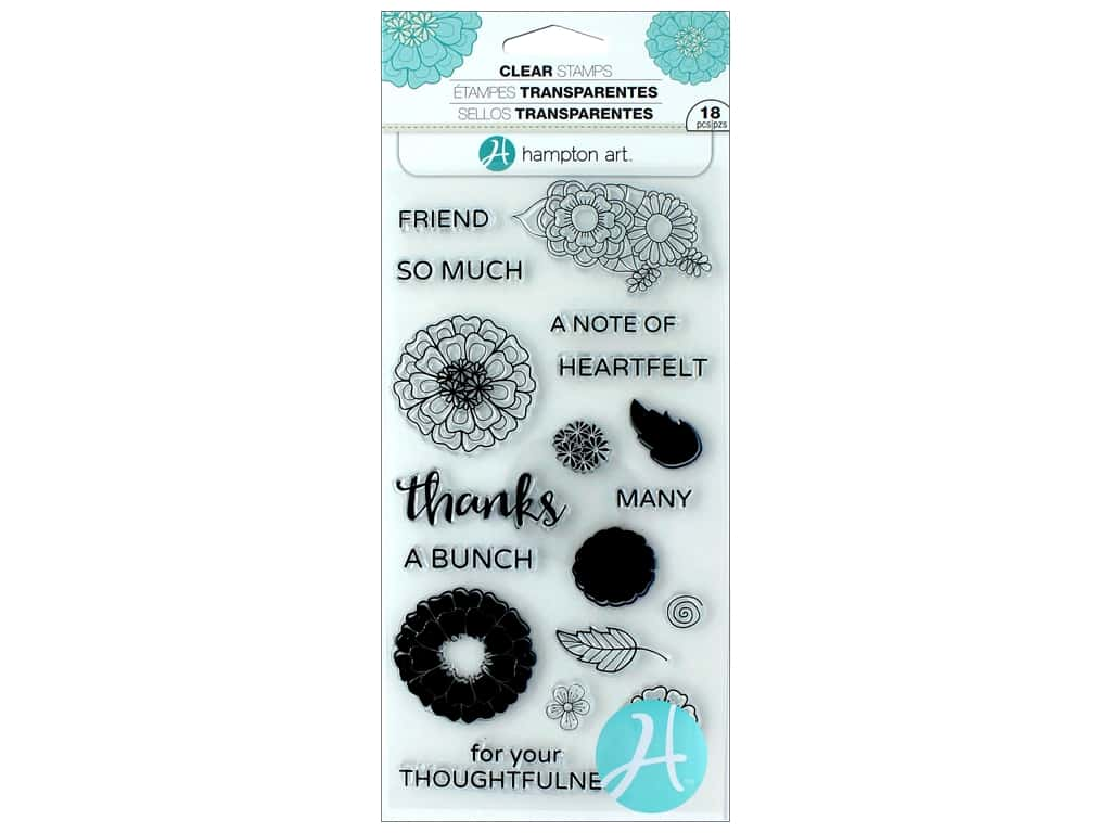 Hampton Art Stamp Clear Layer Flower Thanks