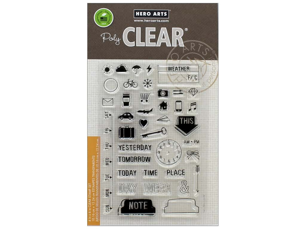 Hero Arts Poly Clear Stamp My Week