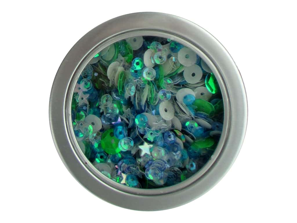 Buttons Galore 28 Lilac Lane Sequin Tin Party Time LL317