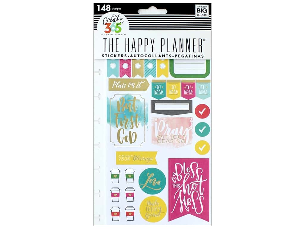 Me&My Big Ideas Create 365 Happy Planner Sticker Snap In Faith Gratitude
