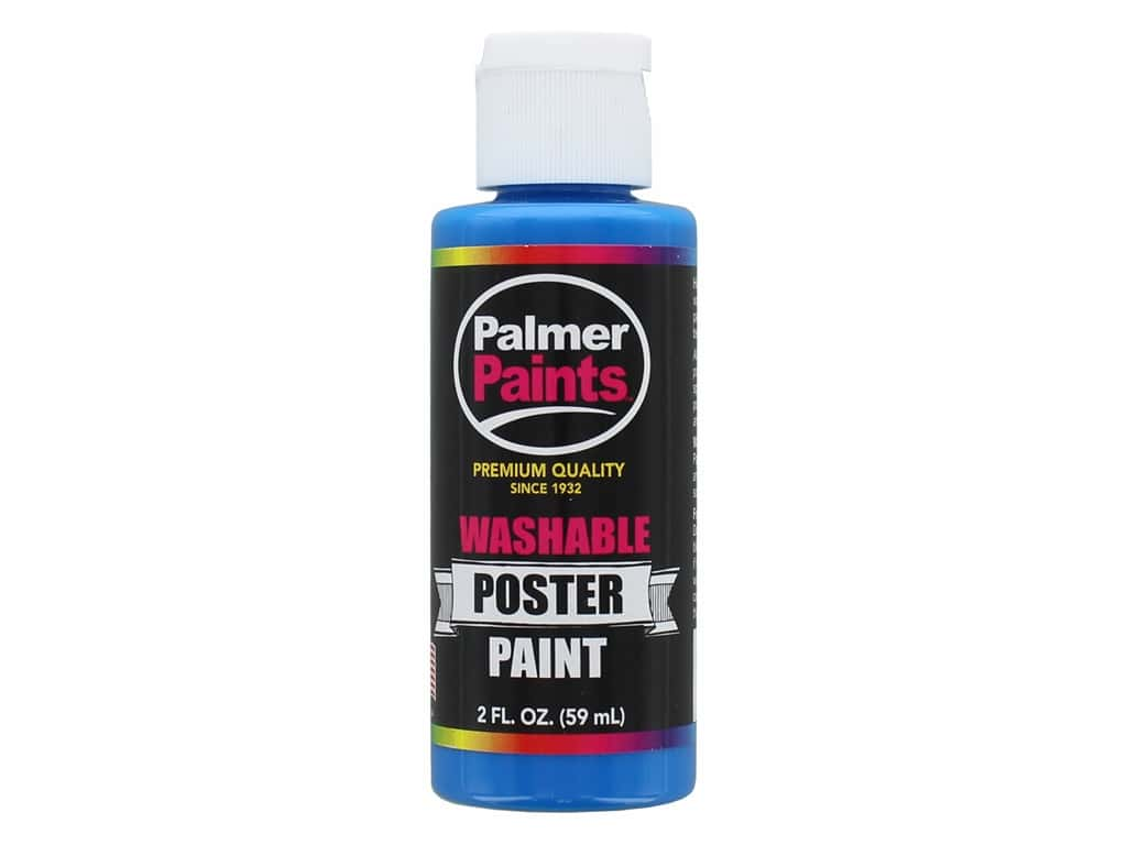 Palmer Washable Poster Paint 2 oz. Blue