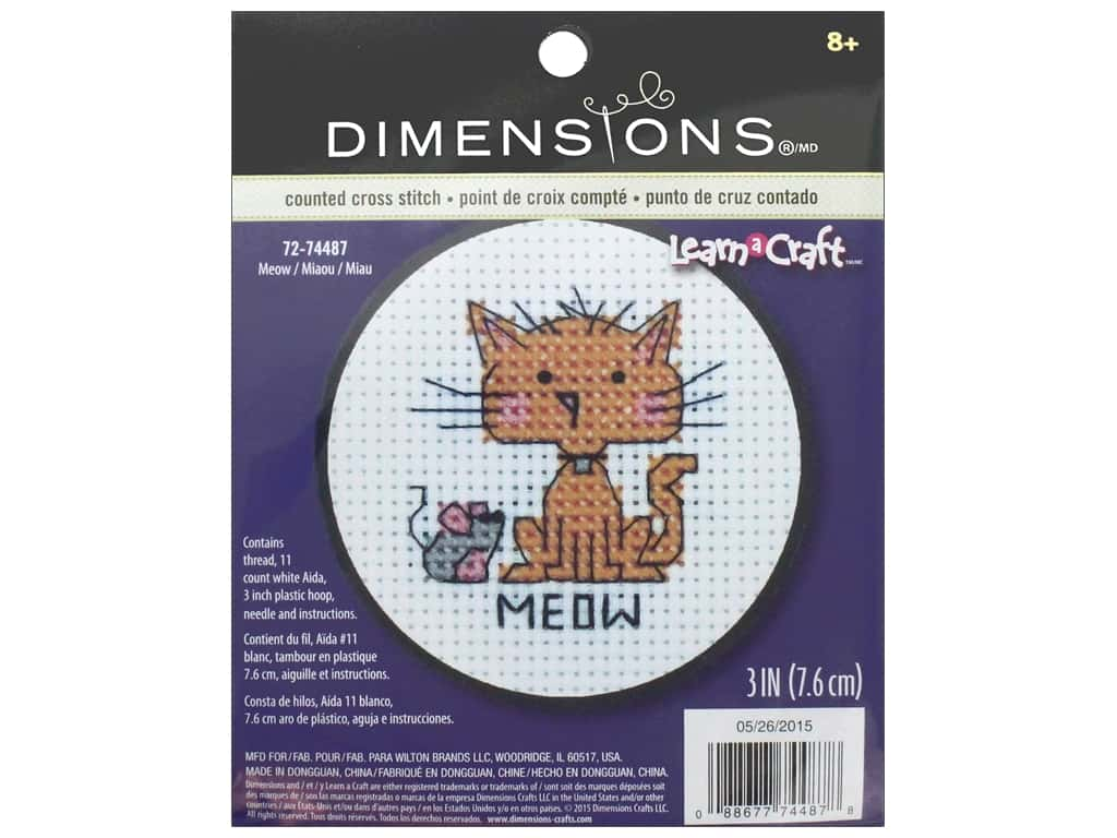 Dimensions Cross Stitch Kit Meow