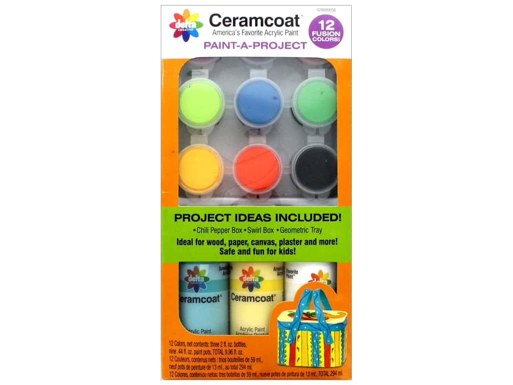 Delta Ceramcoat Paint-A-Project Kits Fusion