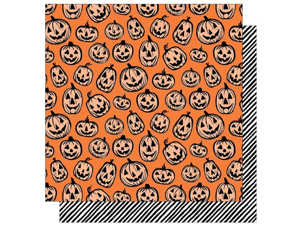 """American Crafts Collection BOOtiful Night Paper 12""""x 12"""" Jack"""