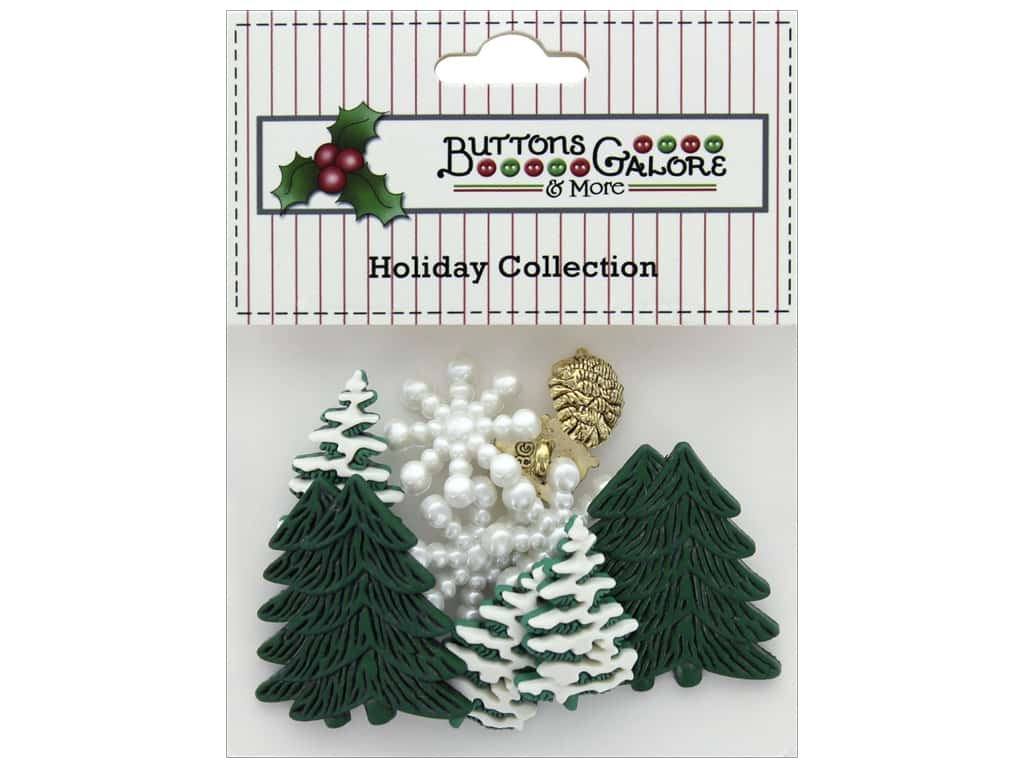 Buttons Galore Theme Button Holiday Woodland Frost