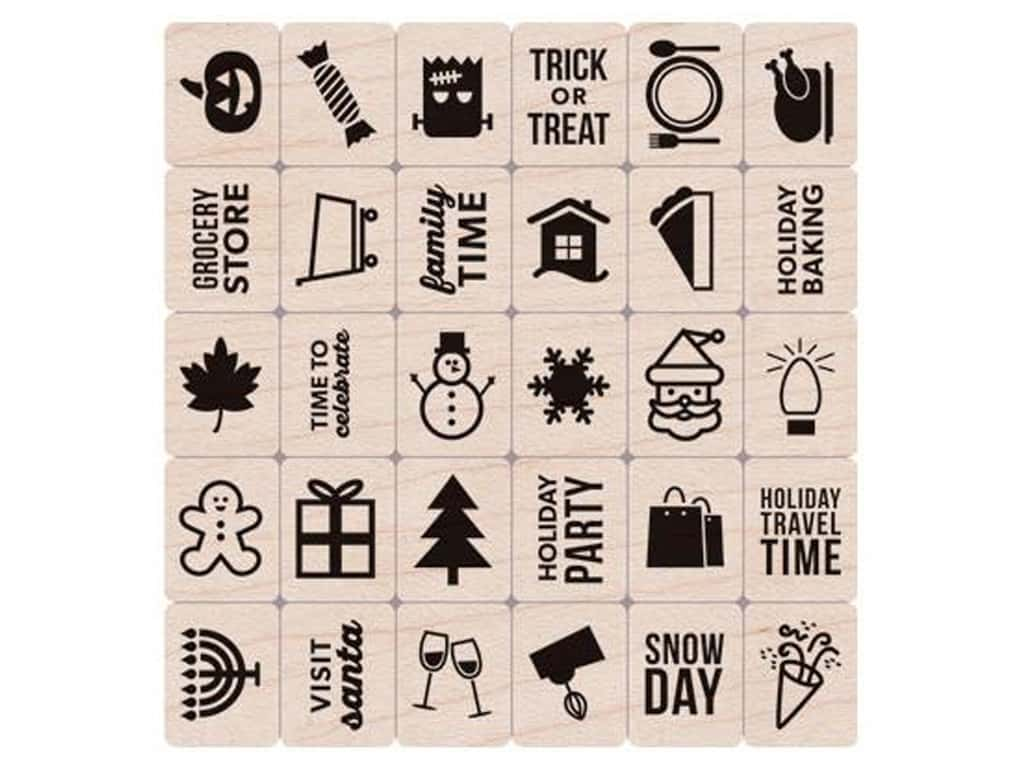 Hero Arts Rubber Stamp Set Kelly's Holiday Planner