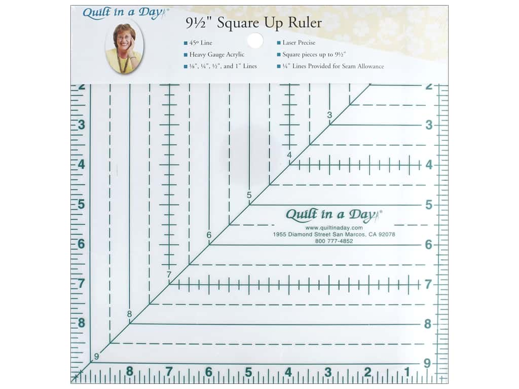Quilt In A Day Ruler 9.5 in. Square Up