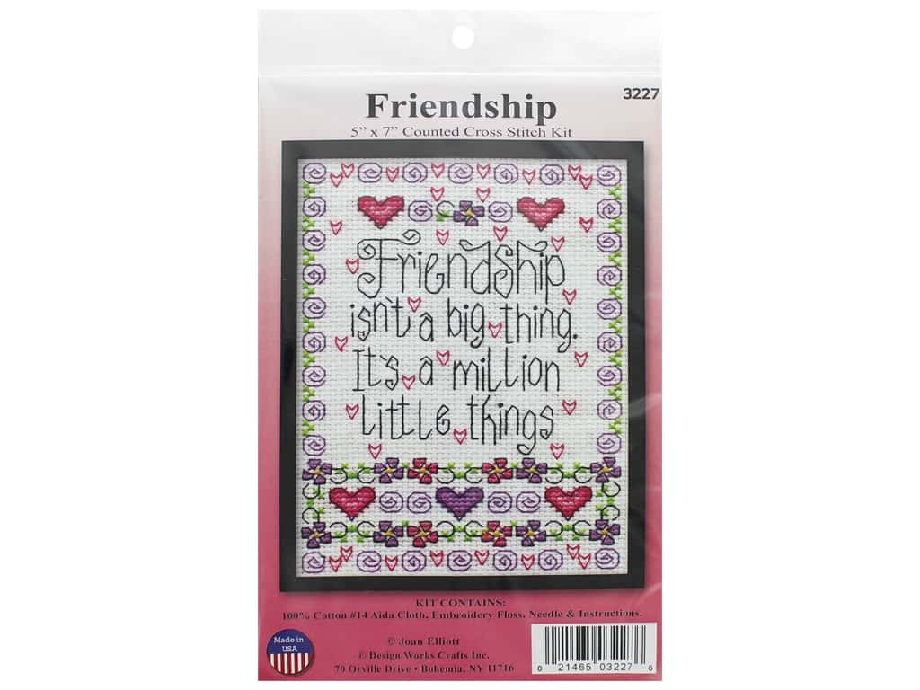 Design Works Counted Cross Stitch Kit 5 x 7 in. Friendship 3227